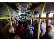 Livekonsert på elbussen