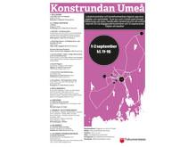 Konstrundan Umeå 2018 - Karta och Info