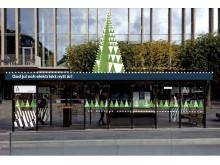 Skissbild Julhållplats ElectriCity Götaplatsen