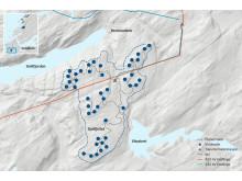 Kart Geitfjellet vindpark