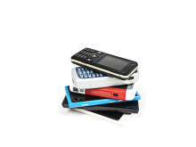 Mange gamle mobiler