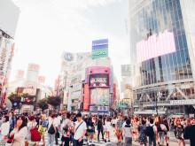 Korsningen Shibuya i Tokyo