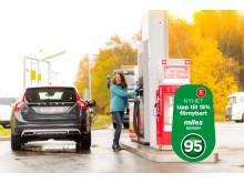 miles 95 bio med upp till 15 procent förnybart innehåll