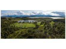 Tjøtta krigskirkegård i Nordland. Landskapsarkitekt  Karen Reistad.