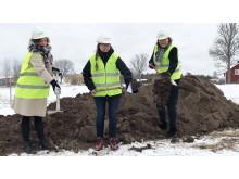 Första spadtaget för Almunge vårdcentral