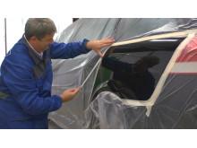 Plastifilm-suojamuovi auton malaaukseen - Käyttö 1