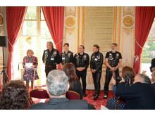 Ehrung der Barber Angels durch GPHF-Präsidentin Lucie Calderon