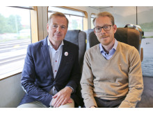 Svart på vitt om humanitet- Röda Korset i samtal på Arlanda Express