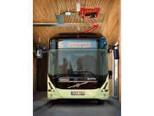 Inomhusladdning av Volvo elbuss
