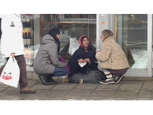 EU-migrant ber om pengar