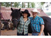 Anita och Anders på Sun Dance Ranch