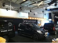 Peugeots breda transportbilsprogram på Nordbygg