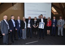 Lesjöfors staff recieves the Kiekert award April 26 2018.