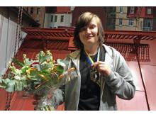 Erik Teuchler, vinnaren i SM för unga plåtslagare 2016.