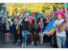Pridetåg under Hx 2015