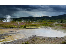Varm källa på Island