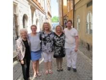 Maria, i mitten, uppvaktades på 60-årsdagen