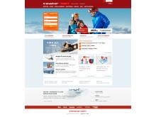 Nya skistar.com startsida