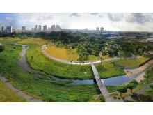 Bishan Ang-Mo Kio Park flygbild