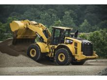 Cat 972M XE hybridhjullastare i arbete