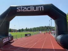 Stadium på plats under Skolstafetten Järva. Foto: Skolstafetten Järva.