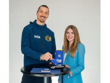 Zlatan Ibrahimović i Tatiana Vasilieva w kampanii Visa