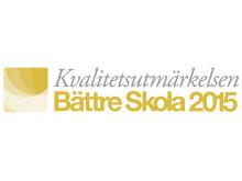 Kvalitetsutmärkelsen Bättre Skola 2015
