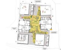 Sigtuna stadsängar, kvarter 1, plan
