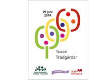 Affischen för Tusen Trädgårdar 2014