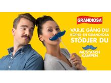 Grandiosa stödjer mustaschkampen