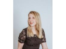 Annika Hammer, folksångerska och student vid Kungl. Musikhögskolan (KMH) som medverkar i folkmusikfestivalen Folk Trad Now 2018. Foto: Sophia Hogman Myrbacka.