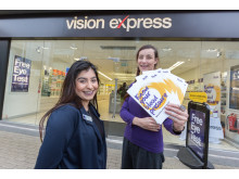 Bristol charity campaigner hosts blood pressure drive at Vision Express to tackle city's stroke risk