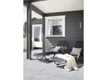 JOTUN 9937 Aske - 9918 Klassisk hvit - TREBITT Terrassebeis 9073 Shimmergrå