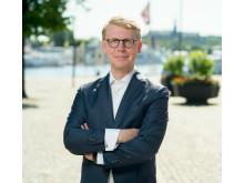 Kristoffer Tamsons (M), ordförande för Mälardalsrådet och trafikregionråd i Region Stockholm.