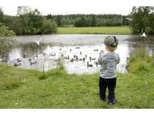 Barn vid vatten