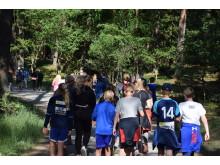 1000 skånska elever deltog i spelen i Snogeholms skogar.