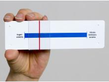 På Akademiska sjukhuset får patienter skatta sin smärta med hjälp av ett instrument kallat VAS (visuell analog skala).