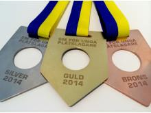 """Medaljer """"SM för unga plåtslagare 2014"""""""