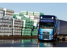 Transport av sågade trävaror i Varbergs hamn