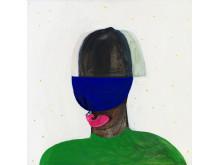 Pia Mauno, Slicka det blå, 60 x 50 cm, vinylfärg och olja på duk, 2019
