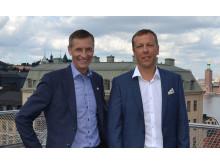 Johan Dozzi, administrerende direktør Tyréns og Algimantas Medžiaušis, administrerende direktør Kelprojektas