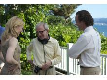 Cate Blanchett, Woody Allen och Peter Sarsgaard i Blue Jasmine