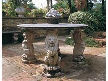 stenbord med lejonben