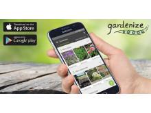 Gardenize trädgårdsapp.