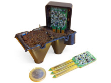 Miniaturized wireless sensor for environmental friendly forest plant production