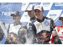 Jari-Matti Latvala fick till det på hemmaplan och vann det snabbaste rallyt någonsin