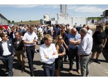 Indvielse af GrønGas Vrå - Nordjyllands største biogasanlæg - havde mange besøgende.