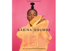 Sabina höstturné poster