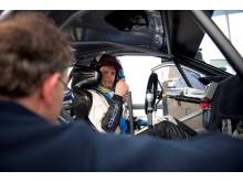 Juho Hänninen testar för Hyundai-teamet