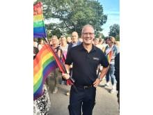 Christer Ängehov, förbundsdirektör, vid Pride 2016.